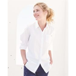 Women's New England Solid Oxford Shirt Thumbnail