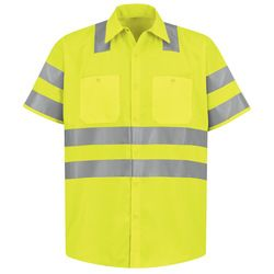 Red Kap SS24AB High Visibility Safety Short Sleeve Work Shirt Thumbnail