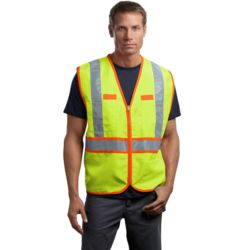 CornerStone CSV407 Ansi 107 Class 2 Dual Color Safety Vest Thumbnail